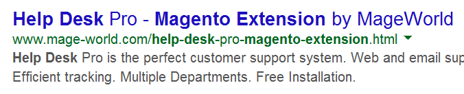 search result example without rich snippets