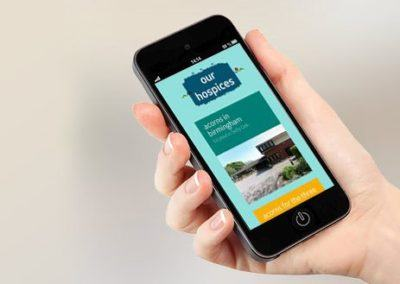 Acorns Children's Hospice Mobile WordPress Design