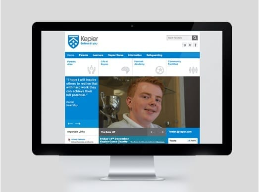 Kepier Sports College Joomla Template Development