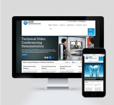 GGR Communications web mobile design
