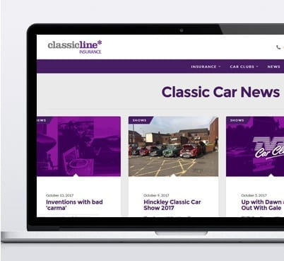 Classicline insurance desktop view