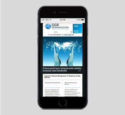 GGR Communications mobile design
