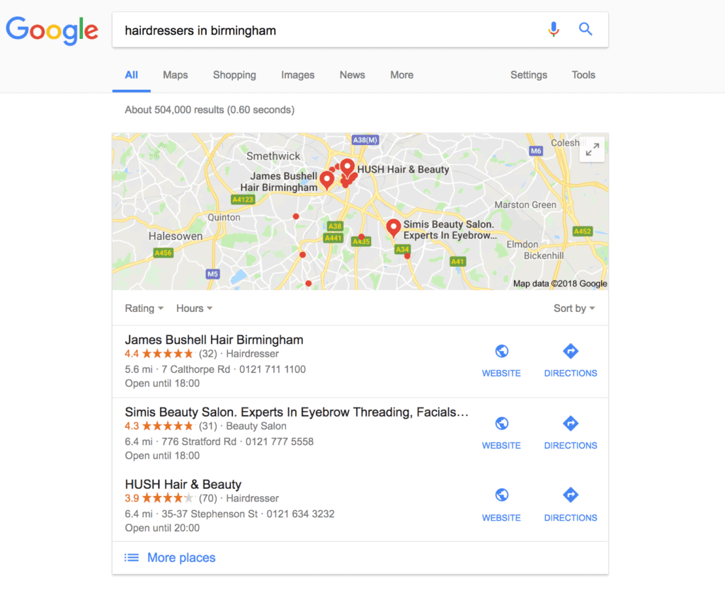 Google localised marketing