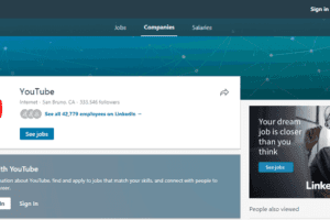 An example of a LinkedIn page