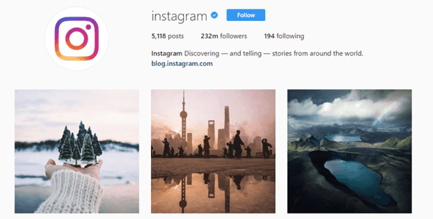 Instagram's official Instagram page - can you create one for your business?