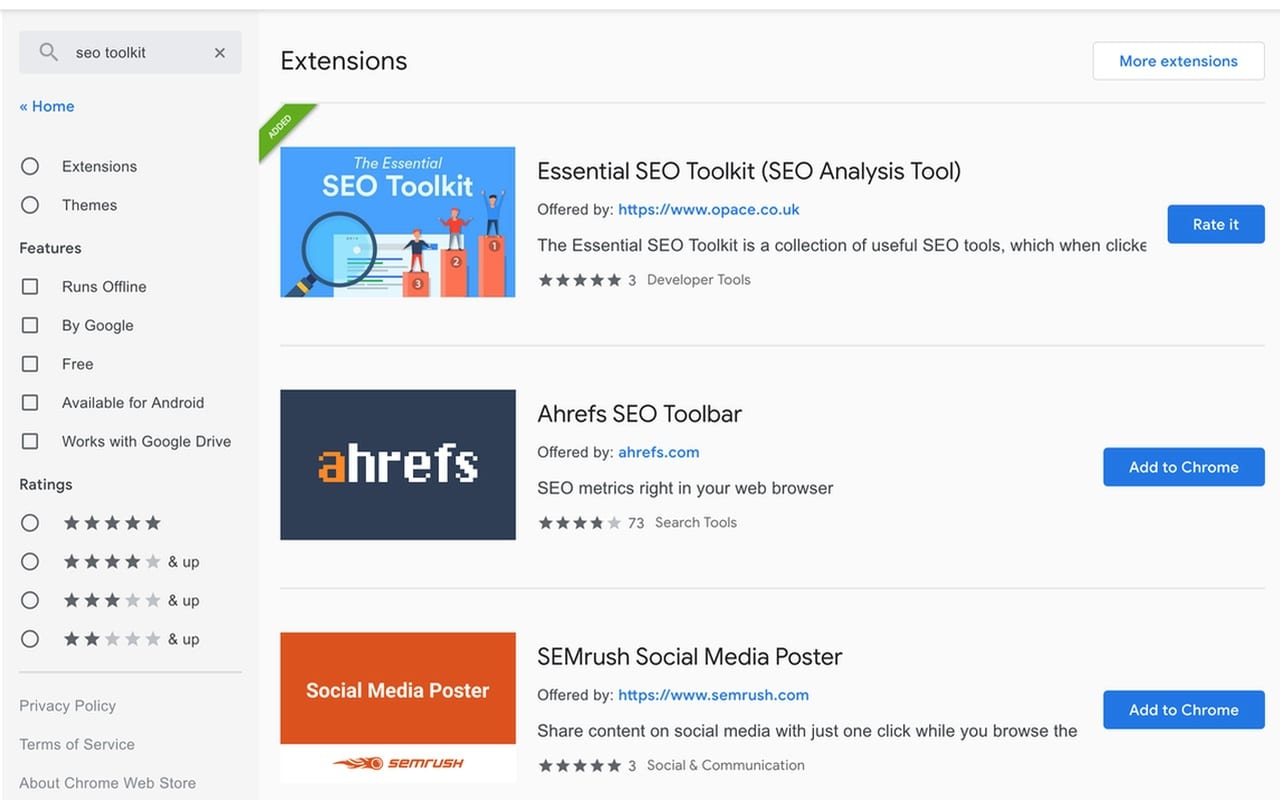 Opace Essential SEO Toolkit (SEO Analysis Tool) Chrome Extension 1280