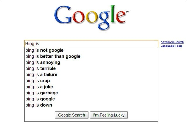 Google vs bing for seo