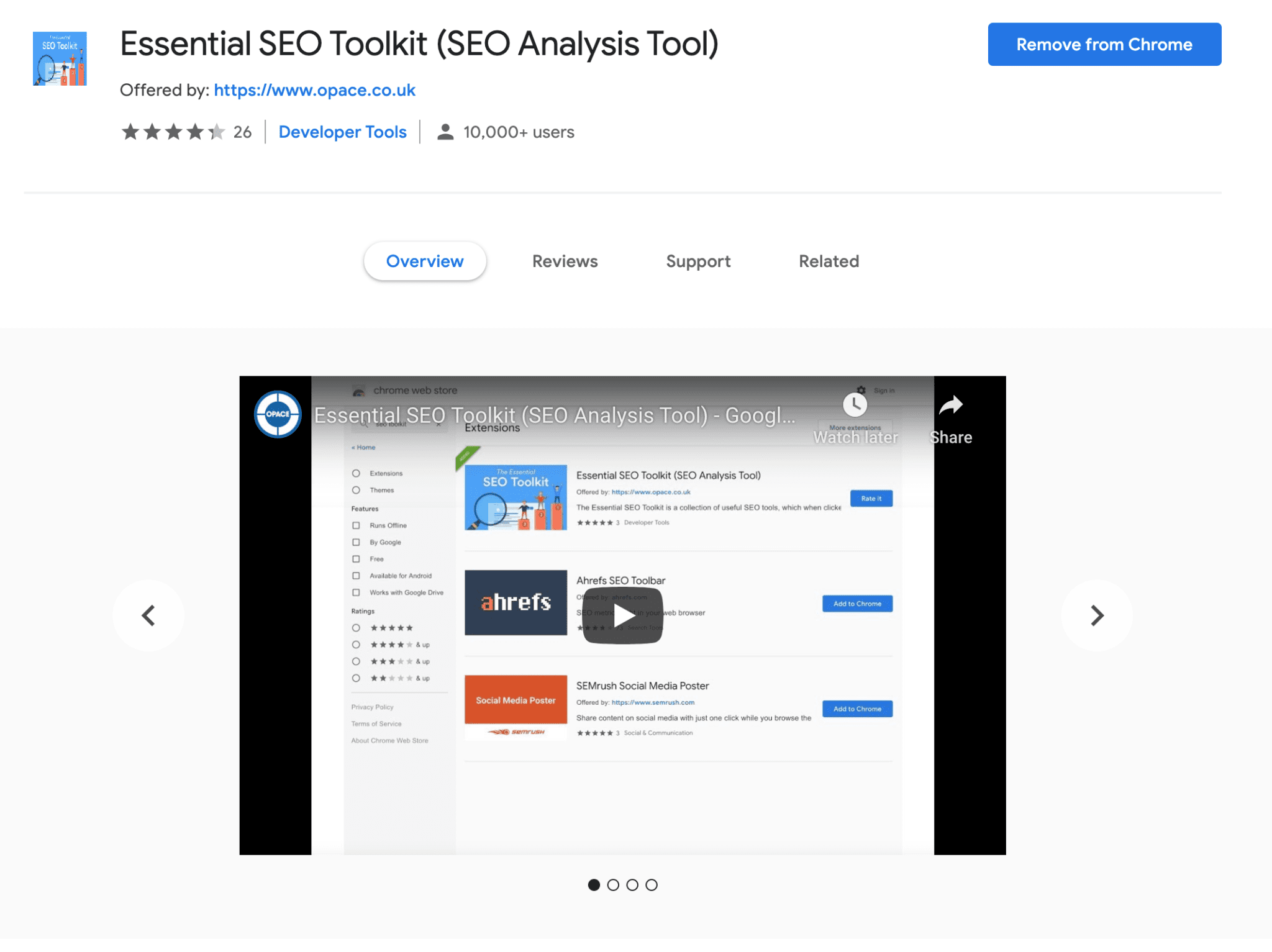 Opace Essential SEO Toolkit