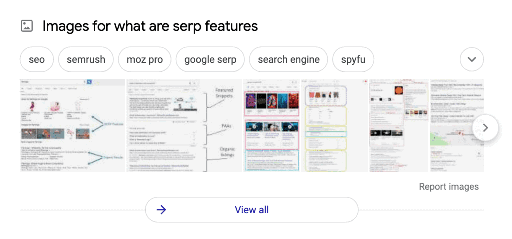 SERP Feature – image results